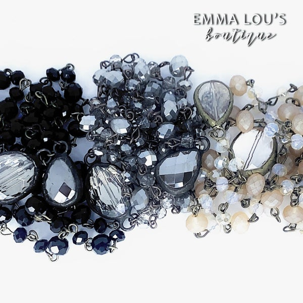 Melania Clara Long Beaded Y Shaped Necklace