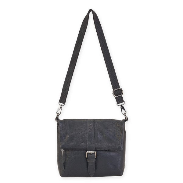 Leather Keaton Flap Over Crossbody