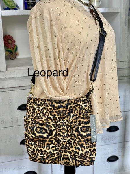 Puffer Nylon Bag Cross Quilt