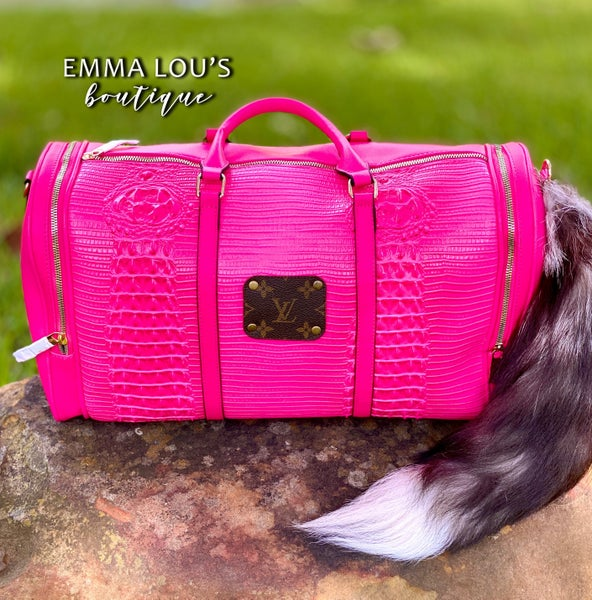 Hot pInk Up-Cycled Weekender Bag