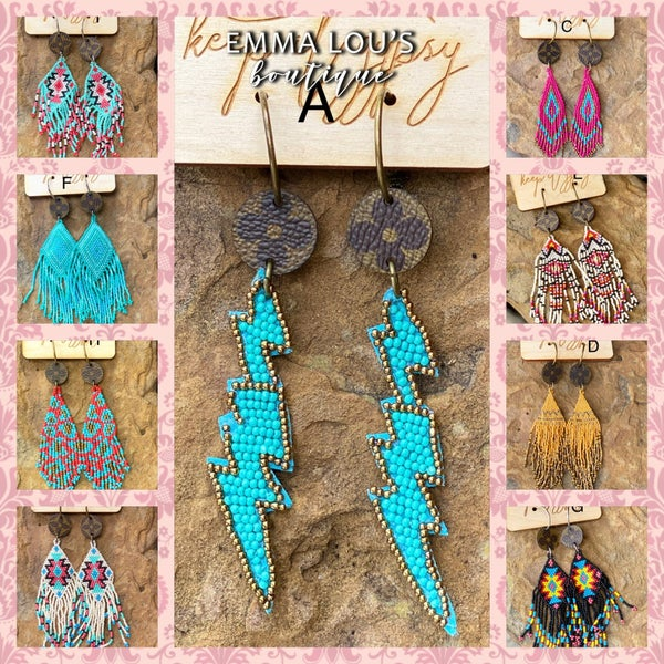 NEW Keep It Gypsy Beaded Up-Cycled Earrings
