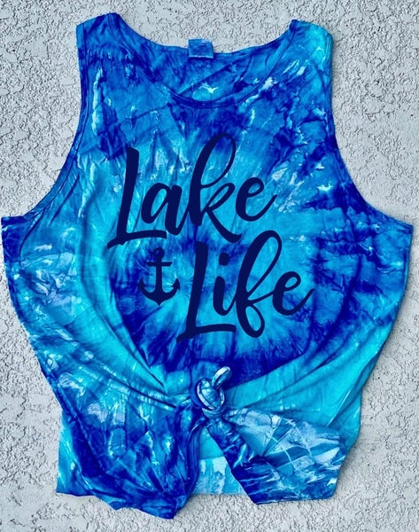 Lake Life Tie Dye Tank Graphic - IN STOCK!!