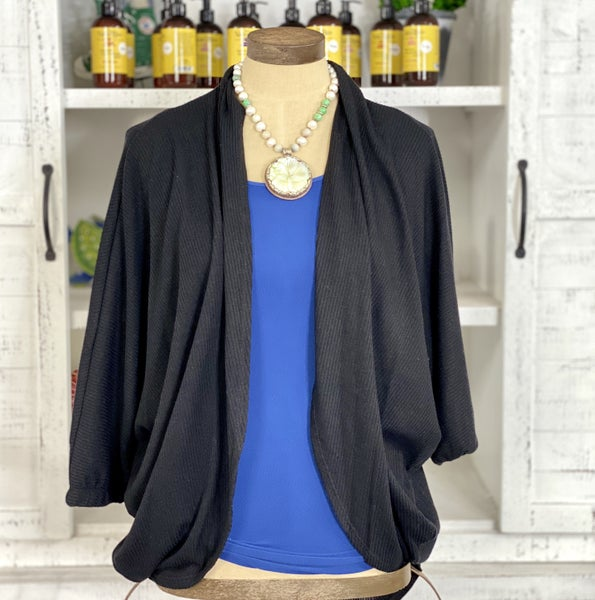 Slouchy Ribbed Cardigan