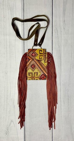 Keep It Gypsy Aztec Leather Phone Crossbody Purse *Final Sale*