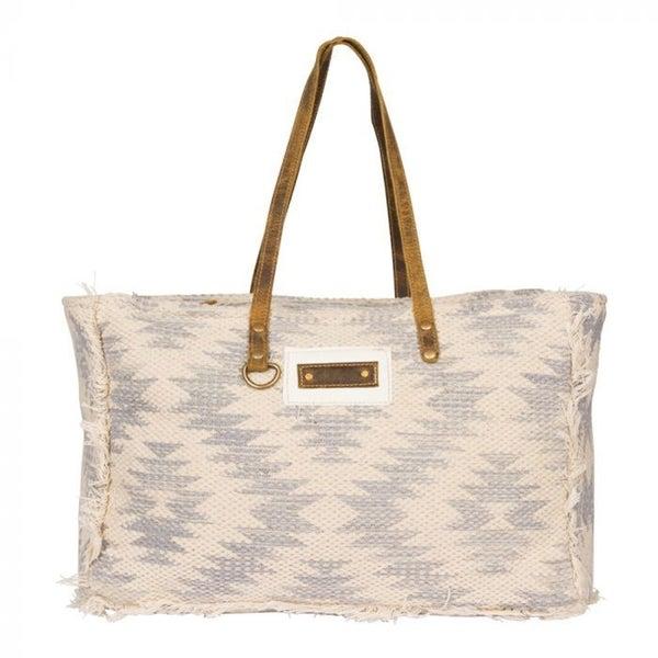 Myra Shades of White Weekender Bag