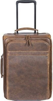 Scully Lamb Leather Wheeled Carry-On Bag