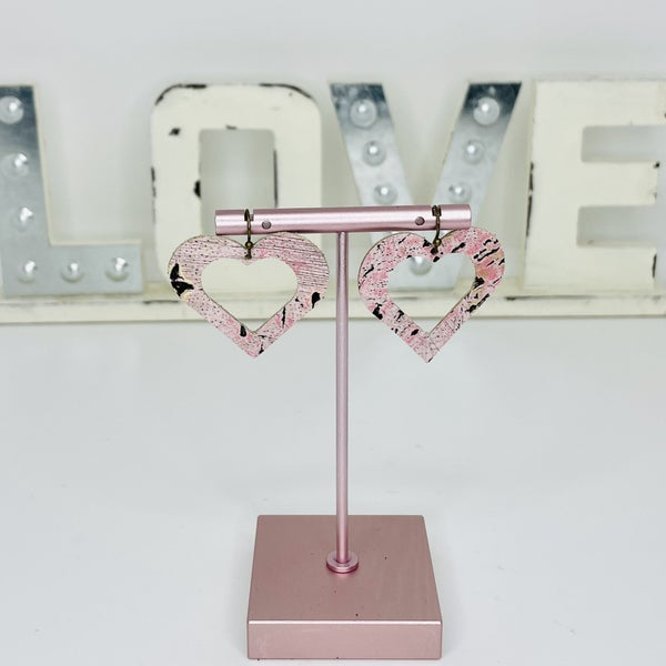 :: DOORBUSTER :: Pink Gold Leather Heart