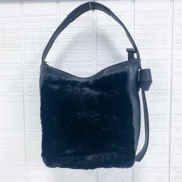 Sondra Roberts Faux Fur Bucket Bag