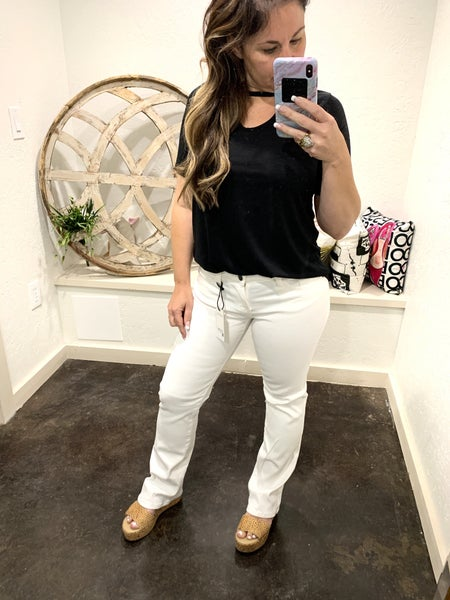 Judy Blue White Bootcut Denim Jeans
