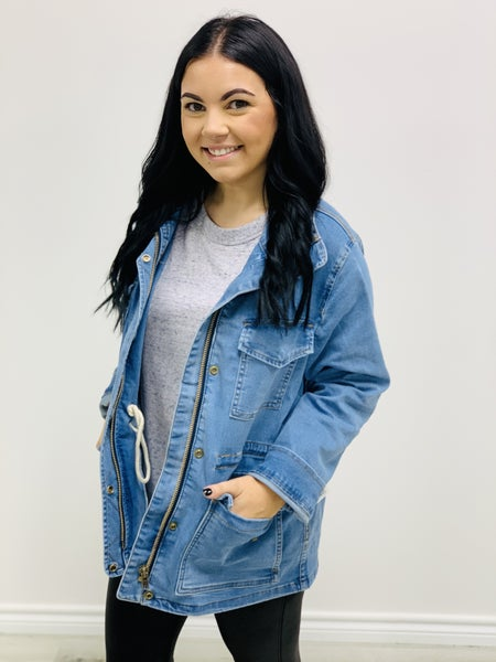 Judy Blue DENIM UTILITY JACKET