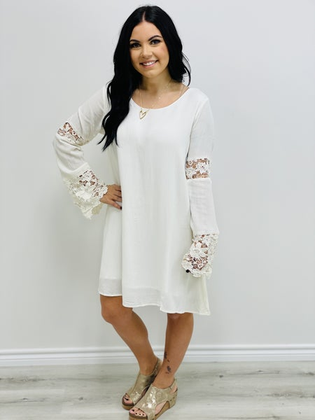 Kori America Peek of Lace Shift Dress