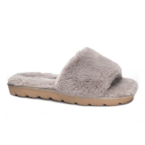 """Chinese Laundry """"Rally"""" Faux Fur Fuzzy Slide"""
