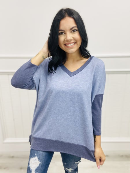 honeyme Dolman Sleeve V-Neck Top