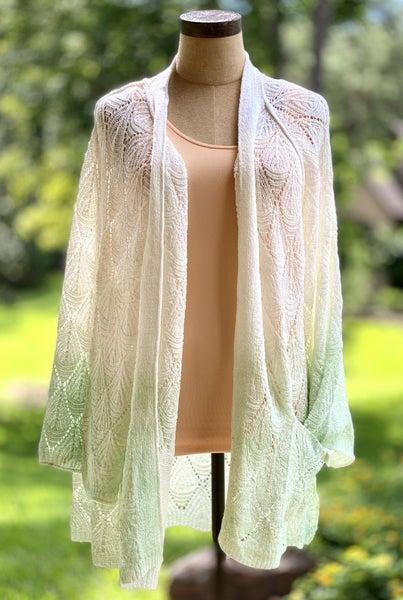 POL Feel The Breeze In Pistachio Lightweight Knit Sweater