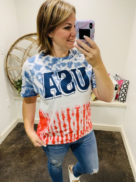 DAILY DEAL - USA Tie Dye Tee ADULT SIZES
