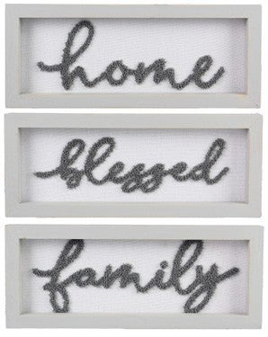 Wood Framed Texture Knit Word Wall/Tabletop Sign - ATL