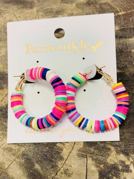 Small Multi-Color Hoop Earrings