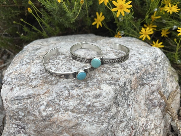 Rick Enriquez Turquoise and Sterling Cuff