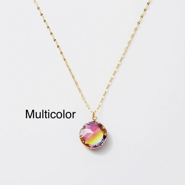 Melania Clara Rainbow Necklace