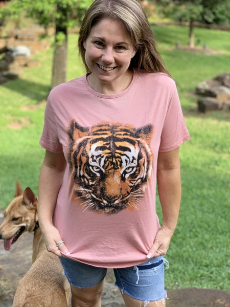 TIGER GRAPHIC VINTAGE T SHIRT