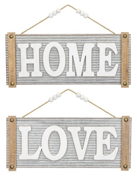 "Ripple Wall Hanger: ""Home"" or ""Love"