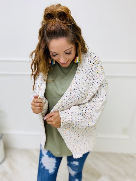 Cable Knit Cardigan Long Length Sweater