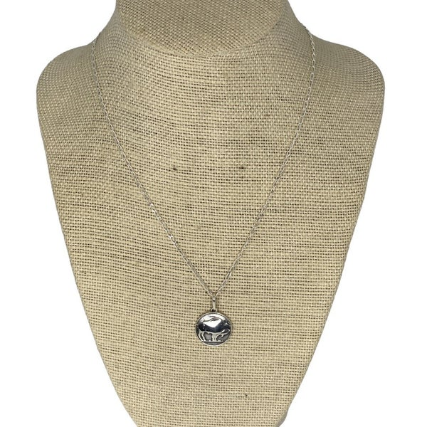 Sterling Silver Buffalo Coin Necklace