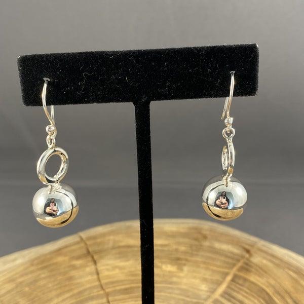 Sterling Silver Ball Drop Earrings