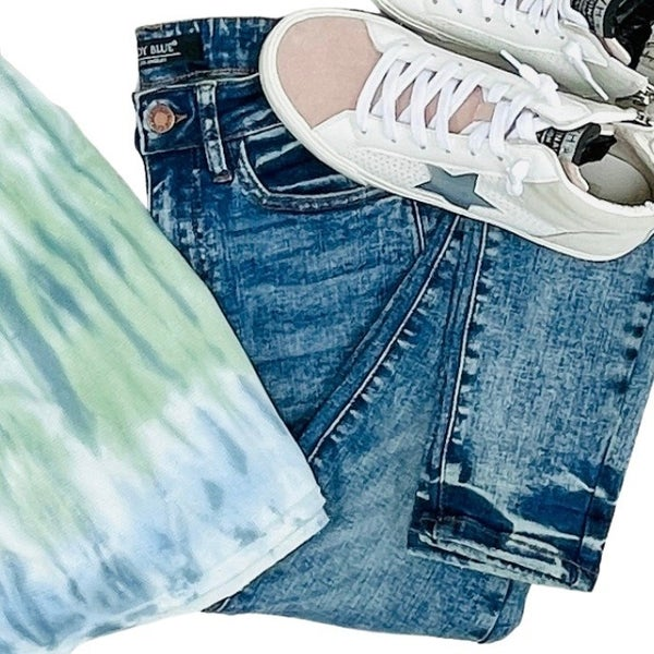 "Judy Blue ""Debbie"" High Waist Mineral Wash Skinny Denim Jeans"
