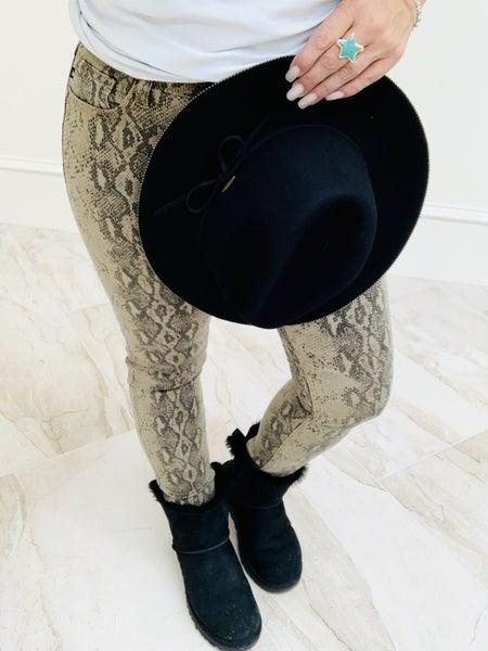 Judy Blue Snake Print Skinny Jeans