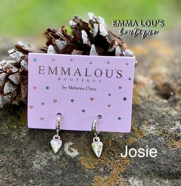 """The """"Josie"""" Small Sterling Hoop Earrings"""