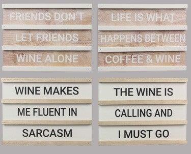 Wood Wine Letterboard
