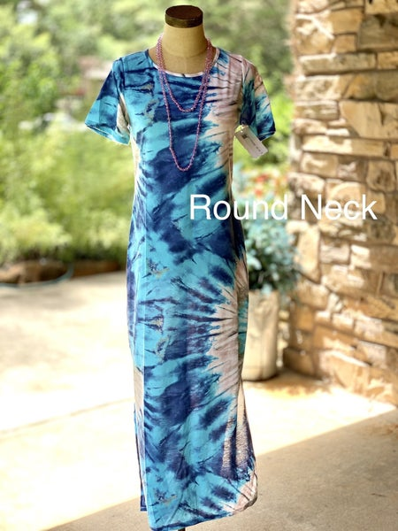 Tie Dye Super Soft Dress with Pockets