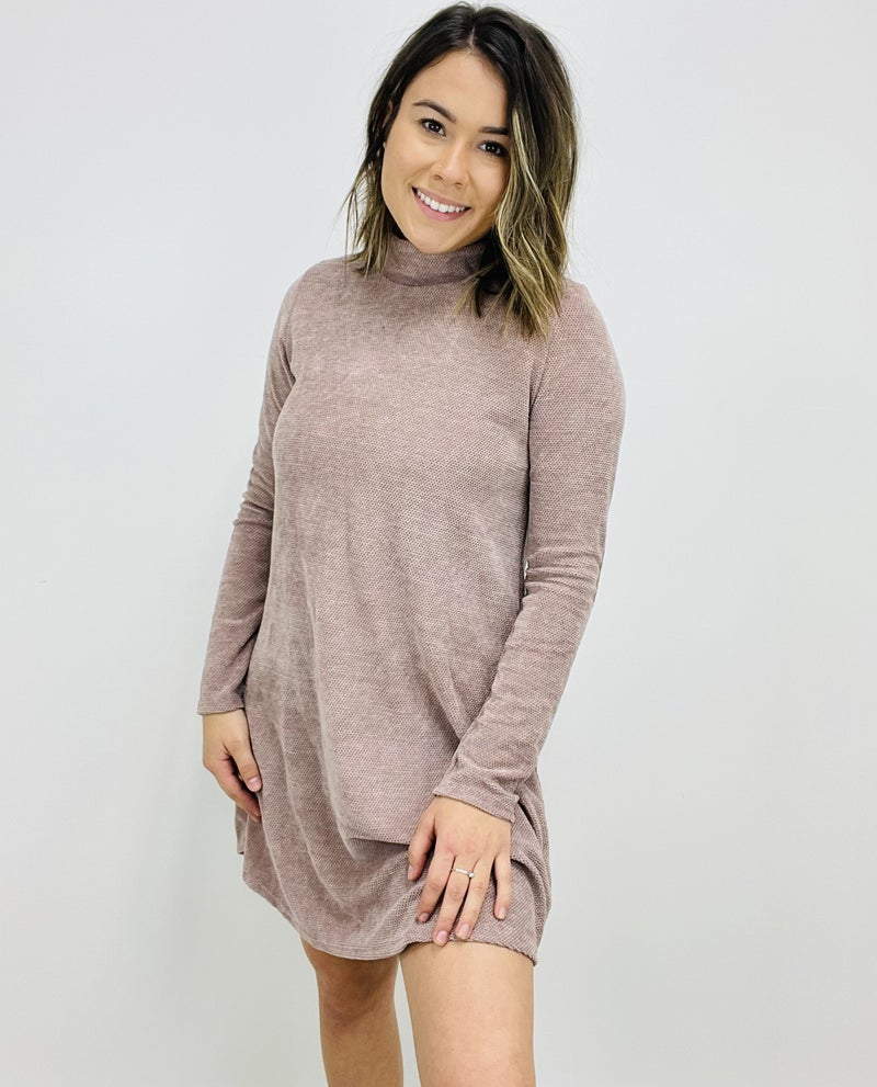 Long Sleeve Chenille Knit Dress