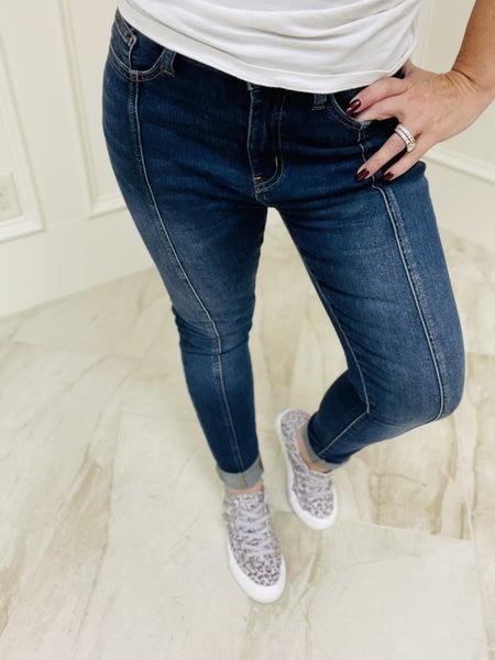 "Judy Blue ""Libby"" Mid Seam Stitch Skinny Denim Jeans"
