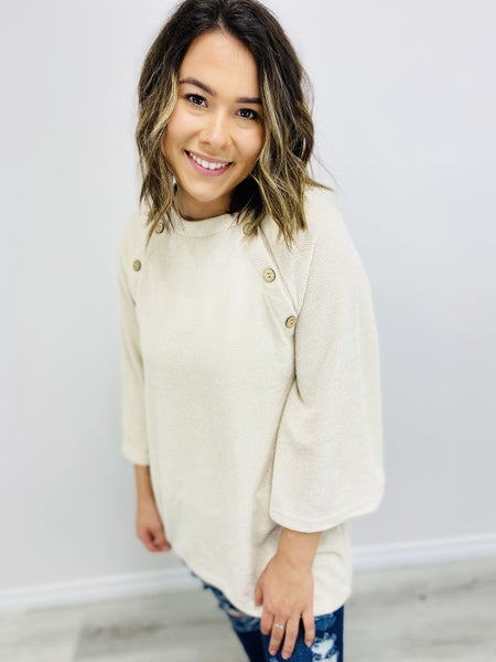 Solid Long Sleeve Top with Bell Sleeves