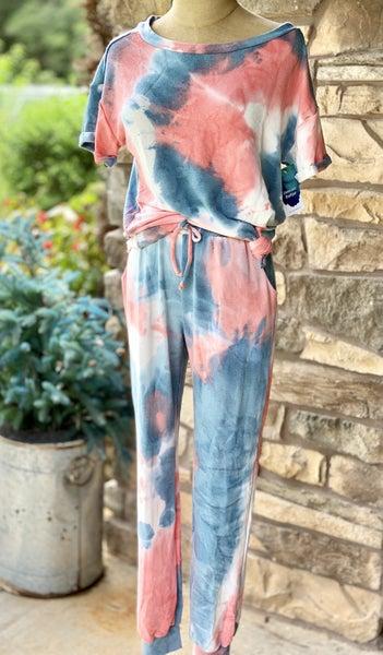 Tie Dye Knit Two Piece Set
