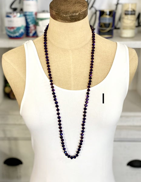 "18"" Crystal Beaded Necklace"