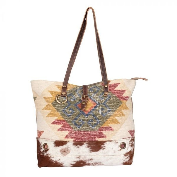 Myra Orangey Blush Tote Bag