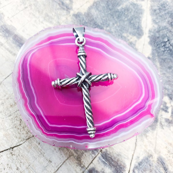 Solid Sterling Silver Cross Pendant