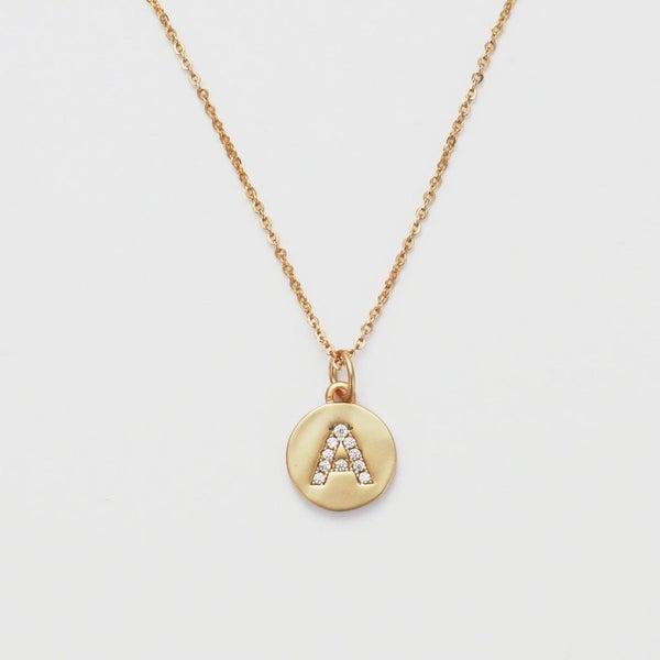 Melania Clara Monogrammed Necklace