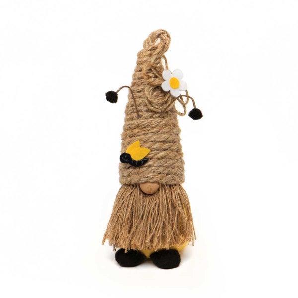 Humble Bee Gnome with Bee Jute Hat & Beard
