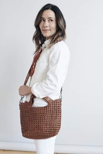 Latico Leather Lillianne Crossbody Tote Bag
