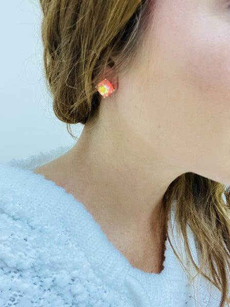 Neon Stud Earrings