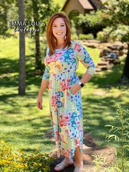3/4 Length Sleeve with Empire Waist Dress