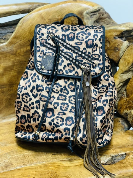 New Leopard Up-Cycled Backpacks