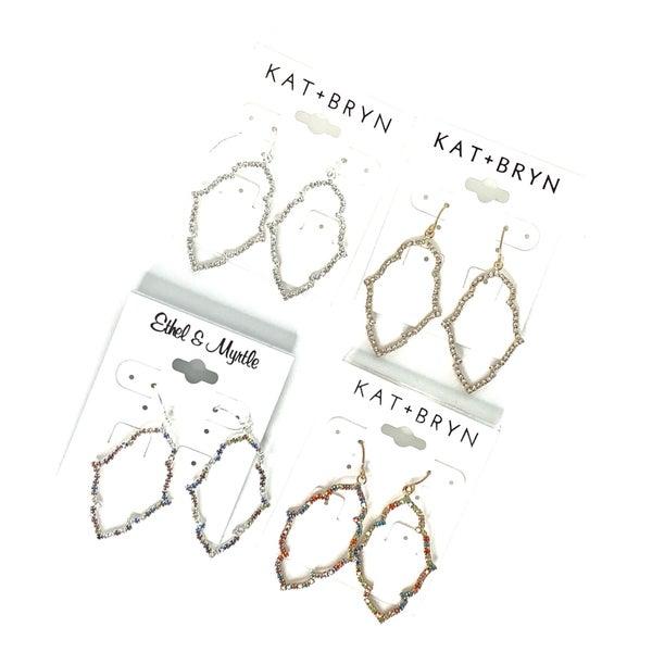 :: JEWELRY :: Quatrefoil Bling Earrings