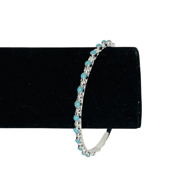 Sterling Silver XL Turquoise Bracelet