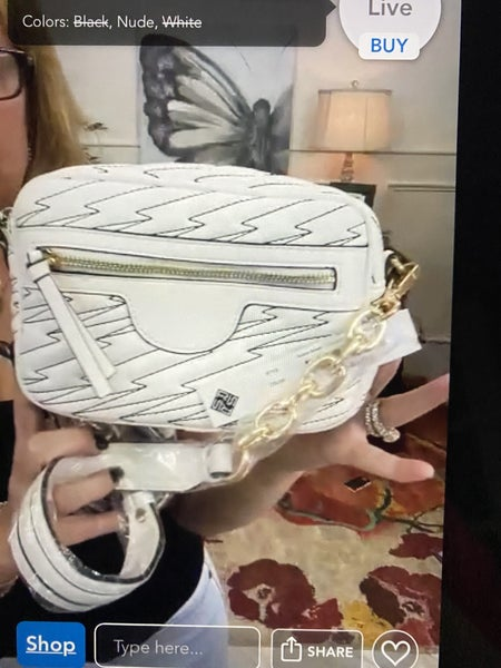 Sondra Roberts Soft Nappa Embroidered Shoulder Bag
