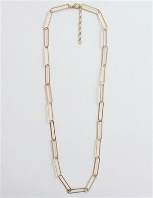 """Paperclip Chain 34"""" Necklace"""